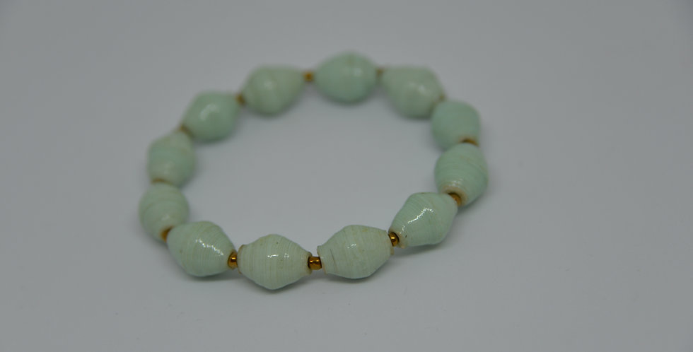 Bracelet ougandais - vert eau