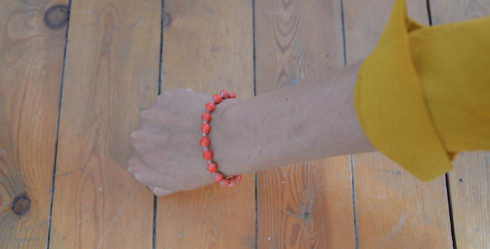 Bracelet ougandais - rouge