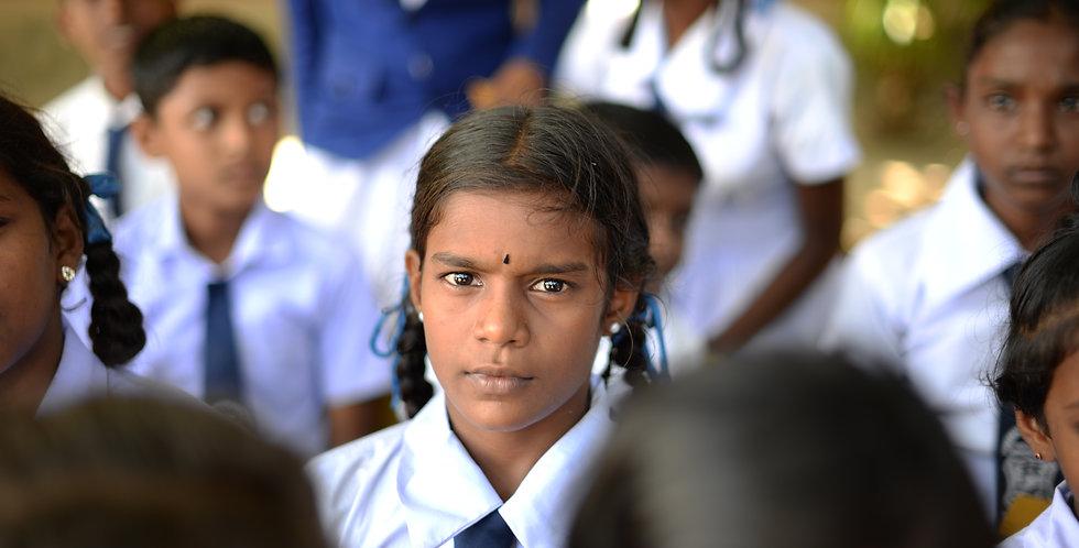 1 an de scolarité pour un enfant sri-lankais