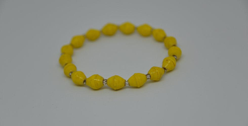 Bracelet ougandais - jaune