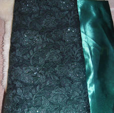 1 Custom-Made Traditional NIgerian Outfit in Green Lace (Grand Prize Exclusively for Campaign Donors)