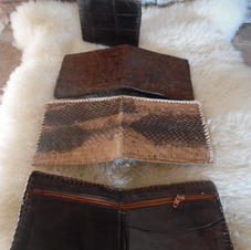 4 Authentic Snake and Alligator-Skinned (Men's) Wallets