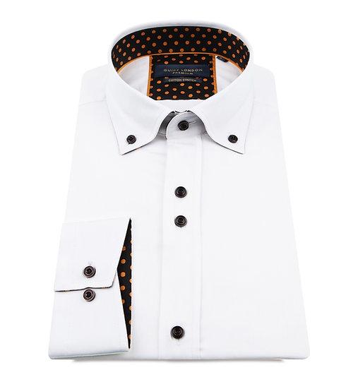 White Button Down Long Sleeve Shirt