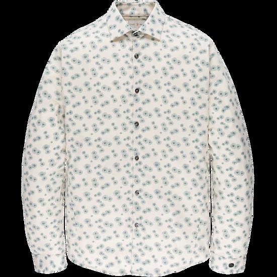 Cream Jaquard Jersey Print Shirt