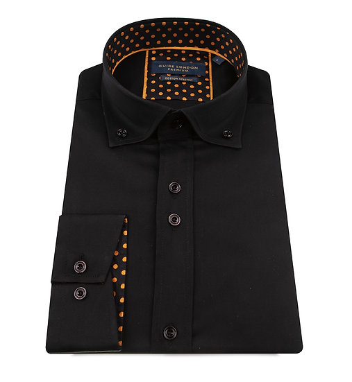 Black Button Down Long Sleeve Shirt