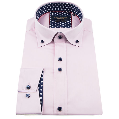 Pink Button Down Long Sleeve Shirt