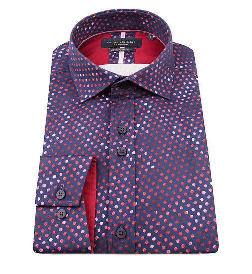 Purple Micro Dot Long Sleeve Shirt