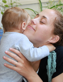 Jewish Mother and baby in Jerusalem