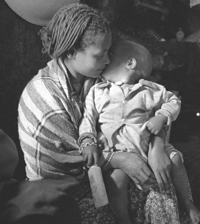 Ethiopian mother and baby