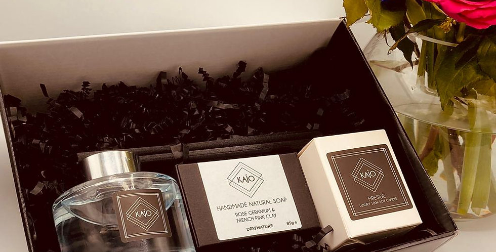 Gift Box - 165ml Reed Diffuser, Soap & Votive Candle