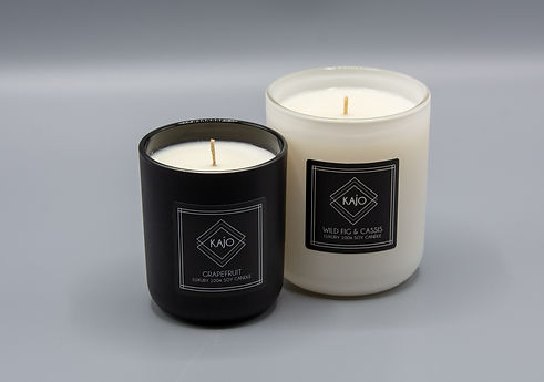 KAJO Luxury Grapefruit and Wild Fig & Cassis Candles