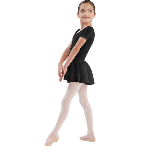 Short Sleeve Leotard with Attached Skirt (Child)