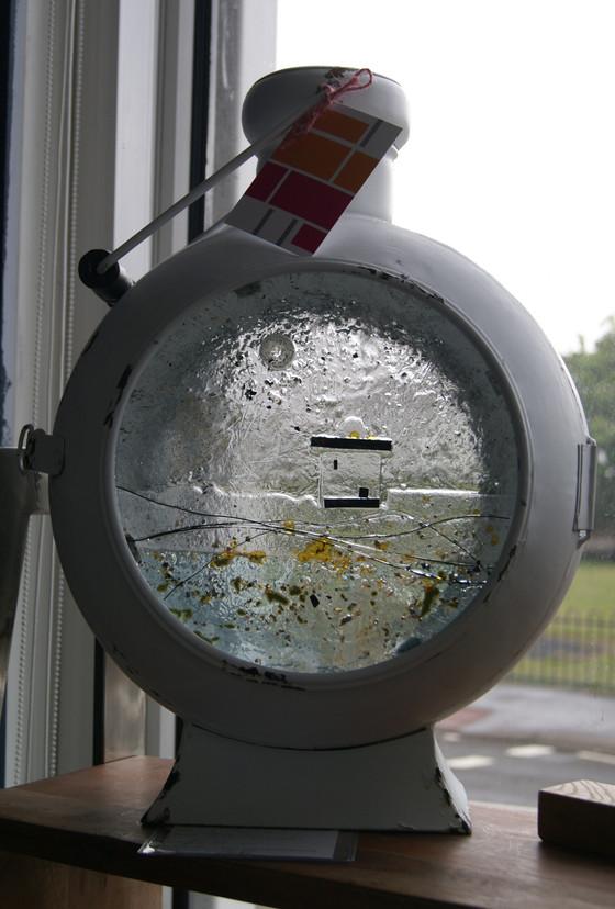Large round lamp