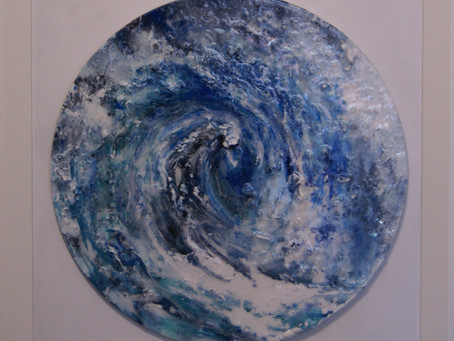 Would you like to Win this Painting by Jo Frost or Win this sculpture by Sallie Wakley ?