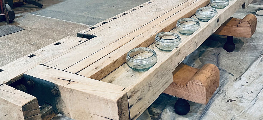 Woodworker's bench coffee table