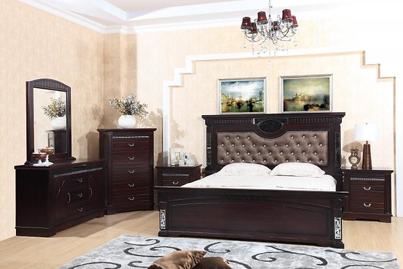 211 Bedroom Set with Armoire - King