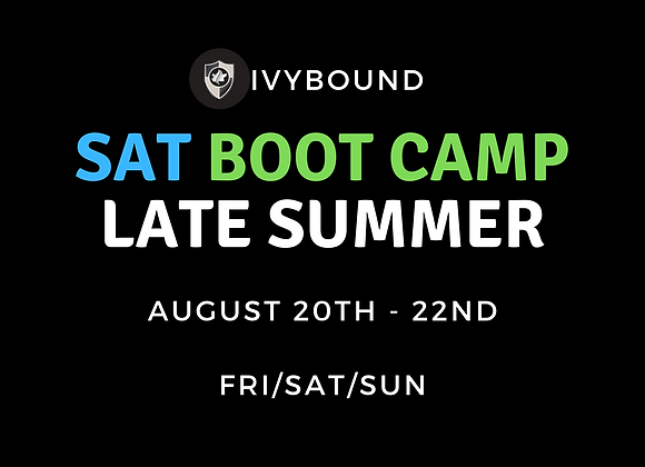3-DAY Intensive SAT Boot Camp - Late Summer