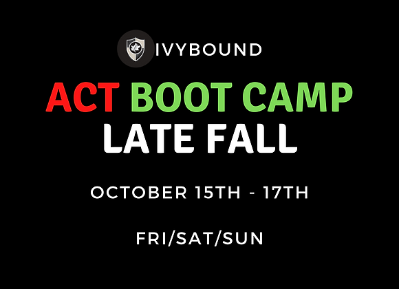 3-Day Intensive ACT Boot Camp - Late Fall