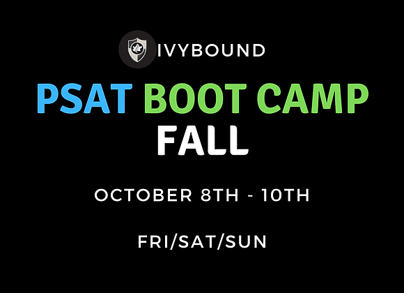 3-DAY Intensive PSAT Boot Camp - October 2021