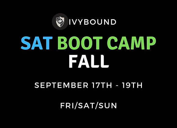3-DAY Intensive SAT Boot Camp - Fall