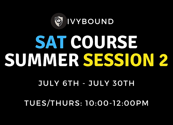 SAT Intensive Summer Course - Session 2