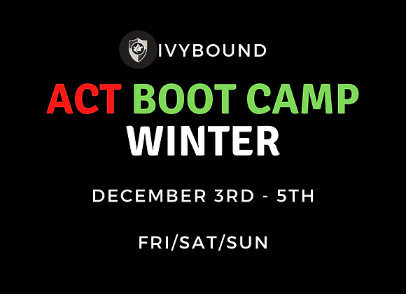 3-Day Intensive ACT Boot Camp - Winter