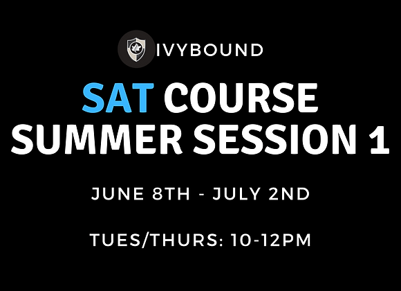 SAT Intensive Summer Course - Session 1