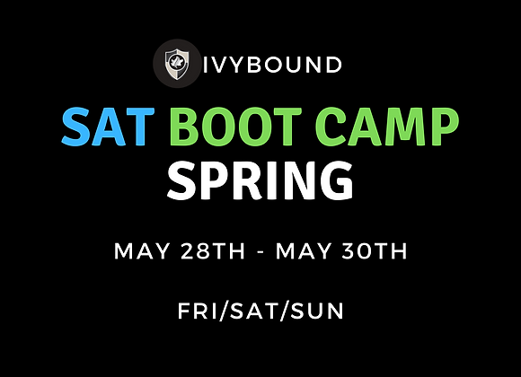 3-Day Intensive SAT Boot Camp - May 28th -30th
