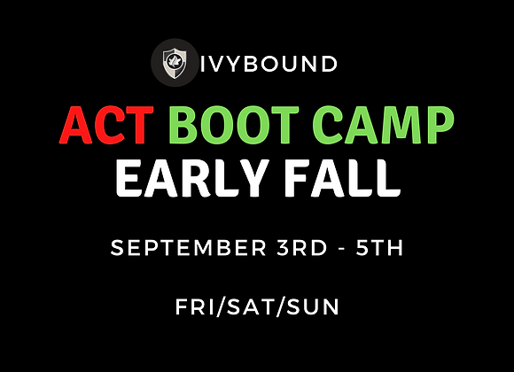 3- Day Intensive ACT Boot Camp - Sept. 3rd -5th