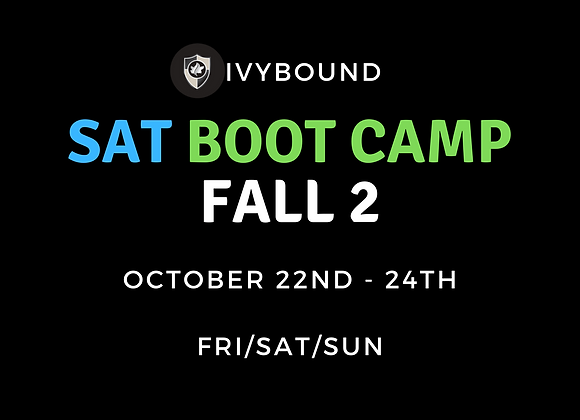 3-DAY Intensive SAT Boot Camp - Fall 2