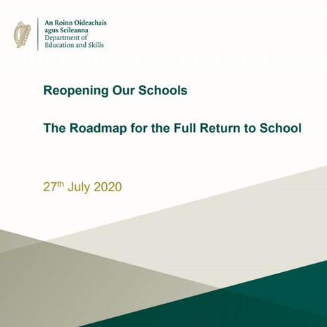 Roadmap for the Full Return to School