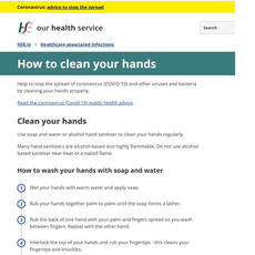 How to clean your hands