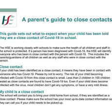 Parents guide to close contacts