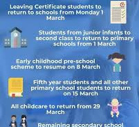 BACK TO SCHOOL 1st March 2021