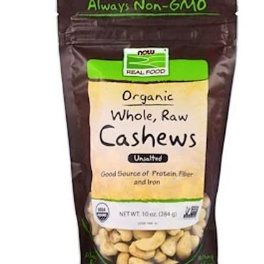 Organic Whole, Raw Cashews