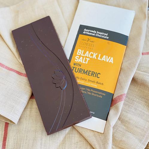 Black Lava Salt with Turmeric