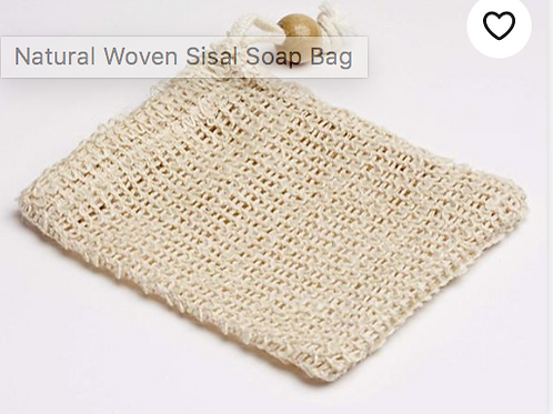 Natural Woven Sisal Soap Bag/Soap Saver/Exfoliator