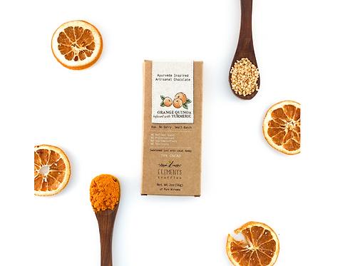 Orange Quinoa infused with turmeric