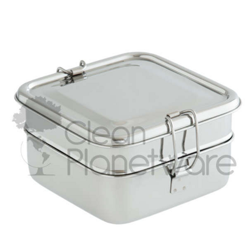2 Layer Square Lunch box