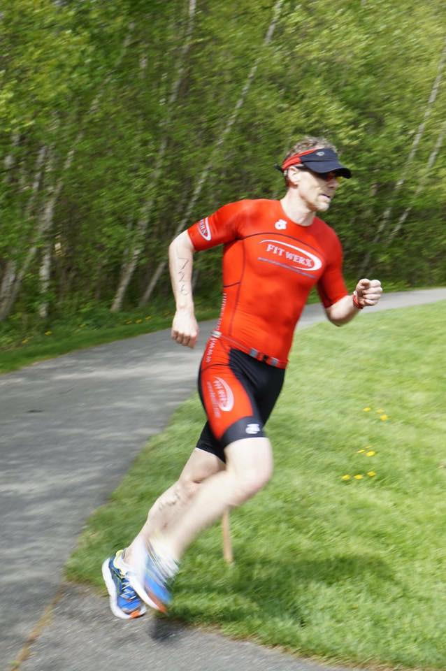 Me racing at The Stowe Triathlon 2017