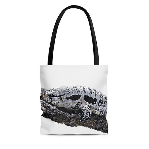 Blizzard Blue Tegu Lizard Tote Bag For Sale, Tegu, Lizard, Dragon, Tegu World