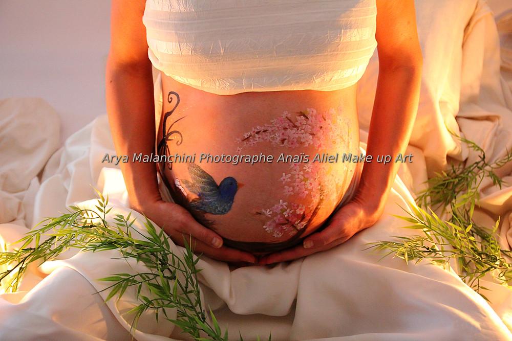Belly painting - Grossesse Ventre peint