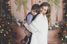 Séance photo de Noël avec Arya Malanchini Photographe - famille - mère fils - enfant - bébé - portrait