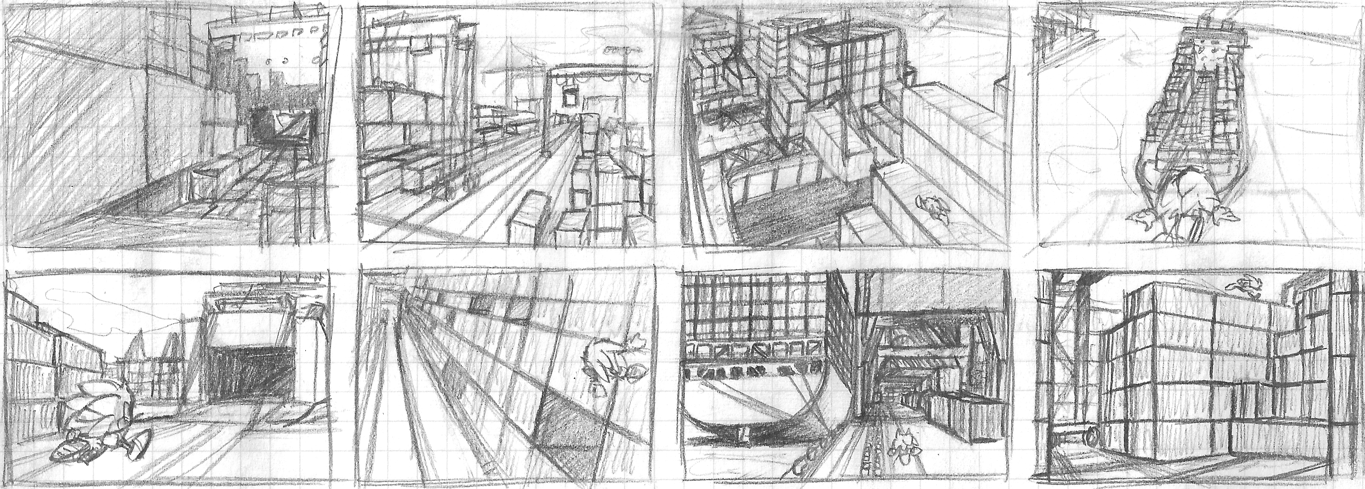 Havok Harbor Zone - Locale Sketches