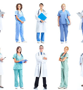 Group of medical doctors. Health care. I