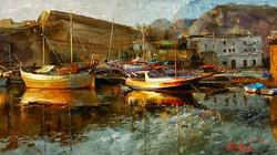 paisajes-barcos-pintura-espatula
