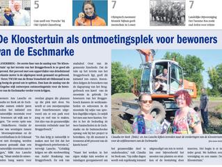 In de Grensstreek Glanerbrug een artikel over onze Wijkontmoetingstuin de Kloostertuin