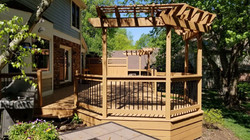 Deck with attached gazebo