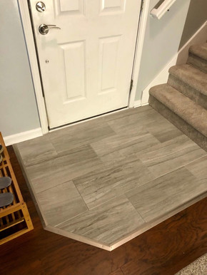 New Tile Entryway