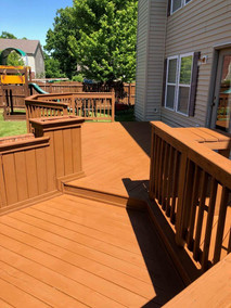 Deck Staining Job